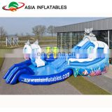 Elephant Inflatable Water Park On Land With Pool Slide For Kids And Adults