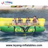 Inflatable Flying UFO / Crazy Sofa For Aquatic Park Games