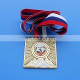 karate federation of russia gold commemoration metal medals