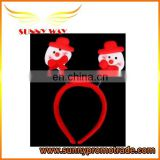 Red elastic funny headband for Christmas Day