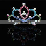 Korean Tiaras New Style White Rhinestone Mini Cute Crown Hair Combs