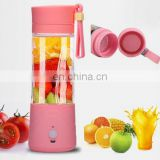 Mini USB Electric Juicer , Portable 380ml Blender Drink Bottle Smoothie Maker Ice Crusher