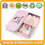 Hello Kitty Makeup Brush Set Metal Tin Box for Cosmetic Packaging