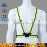 High vis roadway safety running jogging riding elastic warning reflective belt RF045