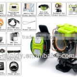 WiFi Live Video Feed To Phone Full HD 1080P Action Camera 30 Meters Waterproof with Unique Wrist Strap Remote Control Design