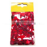 Wedding Party Decoration & Valentine's Day Item Type & Party Supplies red heart confettis