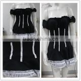 Wholesale cheap Lady Sexy t retro gothic Dora's Secret Sexy Black Lingerie Lace up Back Hot Gothic Corset plus size