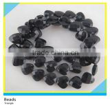 Crystal Glass Beads 13*13 cm Black Heart Shape Glass Beads Strands