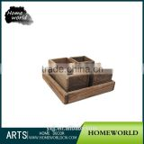 Wood Tray Table Decor Concrete Flower Pot Planter Molds