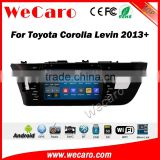 Wecaro WC-TC9002L android 5.1.1 car dvd gps for toyota levin 2014 -2016 car gps navigation system Bluetooth WIFI 3G Playstore