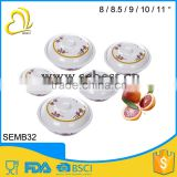 Plastice bowl with lid; melamine round lid bowl