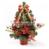 Mini pine needle decorated artificial christmas tree