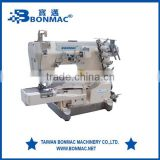 BM-600-01 High Speed Three Needle Five Thread Flat-bed Interlock Pegasus Type Industrial Sewing Machine