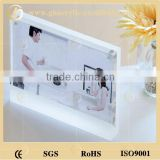 Customized rectangle magnetic acrylic photo frame for picture