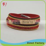 Punk Rock New 3 Layer Belt Men Genuine Cow Leather Bracelet Wristband Bangle
