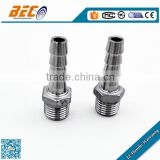 NPT,BSP Thread Stainless Steel Male Hose hex Adapter with nipple