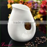 Ceramic house kitchen white sauce jar cookie pot creamer
