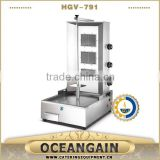 high performance and hot sale Gas shawarma doner kebab machine with 3 burners from Foshan, China