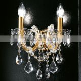 Decorative Maria Theresa Crystal Chandelier LED Bedside Wall Sconce Lamp Light Lighting Fixture for Home Hotel Decor CZ019/2