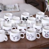 Wholesale cute qq puiz Ceramic Mug/ coffee mug with logo and decal for promotional gifts milk mug