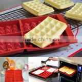 Silicone Waffle Bakeware mould Non-Stick 4 Cavity Baking Tray Mousse Cake Mold Muffin Pan