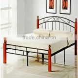 cheap wooden poster metal/steel double bed furniture,modern iron bedroom design furniture sets China 2013 S-16
