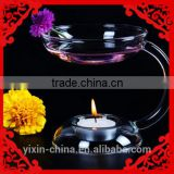 Glass Aroma Oil Table Decor Burner Warmer Stove Candlestick Candle Holder