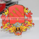 fashion Unique king Logo backing brand logo design weld molding transfer , jacket reflective patch
