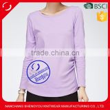 Outdoor Organic Cotton Viscose Maternity Tshirt for Pregnancy