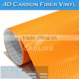CARLIKE Orange Air Free 4D Carbon Fiber Holographic Car Body Vinyl Wrap