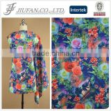 Jiufan Textile 2015 Fashion Plain Knit 95 polyester 5 spandex fabric Flora Digital Print Scuba Fabric