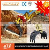 hydraulic excavator rotating grapple suits for pc300, excavator attachment grapple, log grapple
