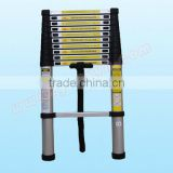 Portable & foldable aluminum telescopic ladder 3.8m (12'5 ft) EN131 certificated