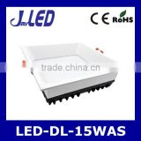 Downlight led aluminum body high quality square shape led downlight light 15w