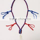 5 loop custom hunting paracord duck call lanyard red white and blue