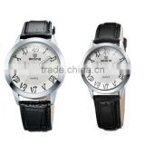 white Face Pu leather strap band Couple Watches Promotional skone Watch