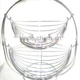 2 tier stainless steel metal fruit basket in Guangzhou