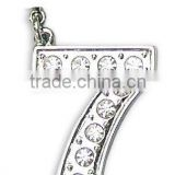 popular metal diamond alphabet letter necklace pendant,good quality and prompt delivery,pass SGS factory audit