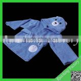Blue kids bathrobe&animal baby bathrobe&bathrobe for dogs