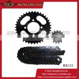 Motorcycle Sprocket Wheel / Motorcycle Chain And Sprocket Kits / India Standard Chain Sprocket set