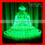 TC-140 full color change led theatrical costume,girl beautiful dance dress for stage,lights led dance costumes