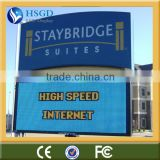 CE approved ph16 outdoor led display screen with RGB color and high brightness backpack billboard