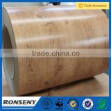 Supply high performance wood coated steel coil,wood grain steel coil,wood painting steel coil,pvc coated steel coil,wood pattern