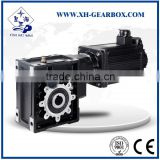 china xinghai servo motor ST Mounted BKM helical hypoid gearbox supplier