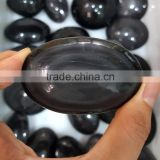 Natural Crystal Healing Stones Rainbow Obsidian Pocket Stone for Hand Exercise