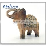 Standing Indian elephant statue lovely animal decoration for home