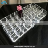 High clear customized acrylic spinning lipstick holder makeup organizer OEM