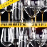 Standard Size of Drinking Glass 565ml 19 Ounce Full Flavour and Aroma of Wine Glass Lead-Free Crystal Stemware