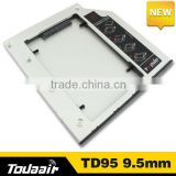 With screwdriver Universal laptop 2nd HDD Hard Drive Caddy SATA 9.5mm Hard Drive disk Caddy