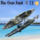 Blue Ocean summer style fishing canoe kayak/sea fishing canoe kayak/ocean fishing canoe kayak